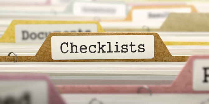Selling Checklists
