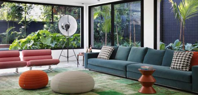 Brazilian Beauty: Colour drenched Interior with Modern Design