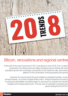 Bitcoin, renovations and regional centres - 2018 property trends